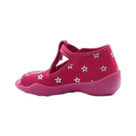 Befado dječje papuče 213p102 ružičasta siva 2