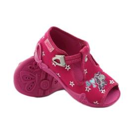 Befado dječje papuče 213p102 ružičasta siva 3