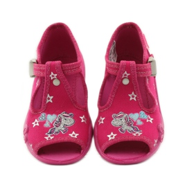 Befado dječje papuče 213p102 ružičasta siva 4
