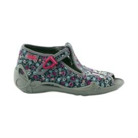 Papuče dvije ženke Befado 213p099 sive ružičasta siva 1