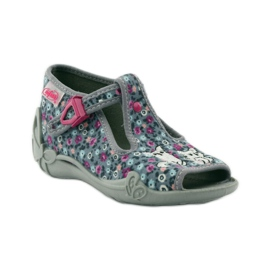 Papuče dvije ženke Befado 213p099 sive ružičasta siva 2