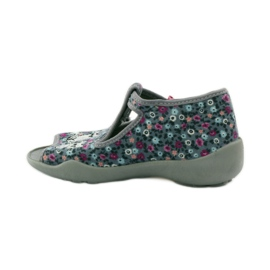 Papuče dvije ženke Befado 213p099 sive ružičasta siva 3