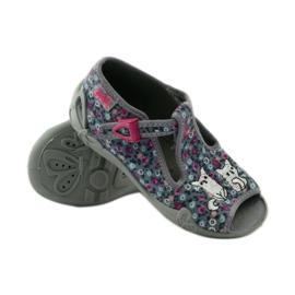 Papuče dvije ženke Befado 213p099 sive ružičasta siva 4