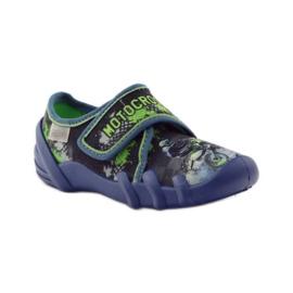 Dječačke papuče Befado 273y226 motocross mornarsko plava zelena 1
