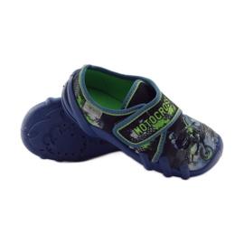 Dječačke papuče Befado 273y226 motocross mornarsko plava zelena 3