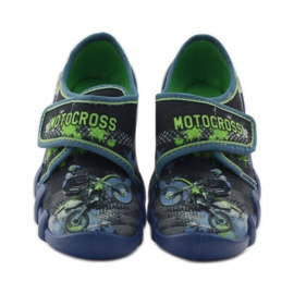 Dječačke papuče Befado 273y226 motocross mornarsko plava zelena 4