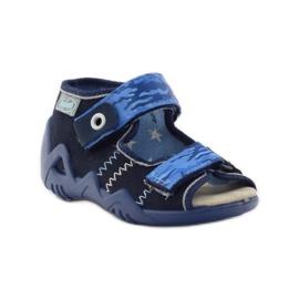 Sandale Befado 250p od kože mornarsko plava plava 1