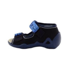 Sandale Befado 250p od kože mornarsko plava plava 2