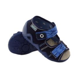 Sandale Befado 250p od kože mornarsko plava plava 3