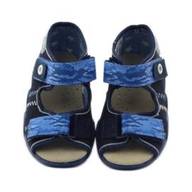 Sandale Befado 250p od kože mornarsko plava plava 4