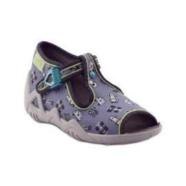 Papuče na lagerima Befado 217p092 zelena siva crno bijela 1