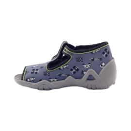 Papuče na lagerima Befado 217p092 zelena siva crno bijela 2