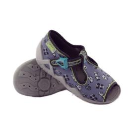 Papuče na lagerima Befado 217p092 zelena siva crno bijela 3