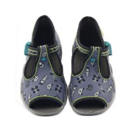 Papuče na lagerima Befado 217p092 zelena siva crno bijela 4