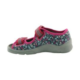 Dječje sandale pojas Befado 969x119 mornarsko plava ružičasta siva 2