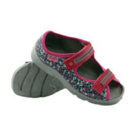 Dječje sandale pojas Befado 969x119 mornarsko plava ružičasta siva 3