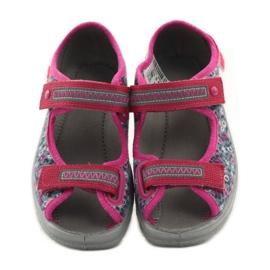 Dječje sandale pojas Befado 969x119 mornarsko plava ružičasta siva 4