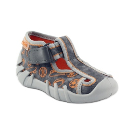 Befado dječje cipele 190p082 papuče siva naranča 1