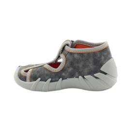 Befado dječje cipele 190p082 papuče siva naranča 2