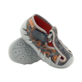 Befado dječje cipele 190p082 papuče siva naranča 3