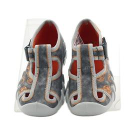 Befado dječje cipele 190p082 papuče siva naranča 4