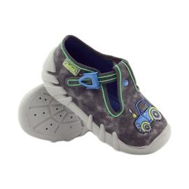 Dječačke papuče traktor Befado 110p316 plava siva zelena 3