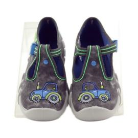 Dječačke papuče traktor Befado 110p316 plava siva zelena 4