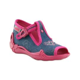 Papuče Befado 213p101 sa srcem mornarsko plava ružičasta 1