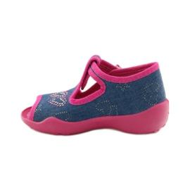 Papuče Befado 213p101 sa srcem mornarsko plava ružičasta 2