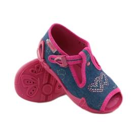 Papuče Befado 213p101 sa srcem mornarsko plava ružičasta 3