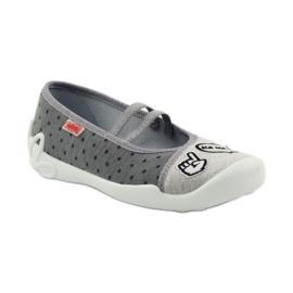Befado dječje cipele papuče balerinke 116y235 siva 1