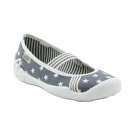 Dječje papuče Befado 193y064 zvijezde siva bijela 1