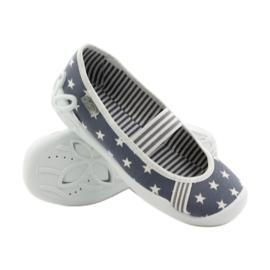 Dječje papuče Befado 193y064 zvijezde siva bijela 3