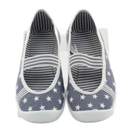 Dječje papuče Befado 193y064 zvijezde siva bijela 4