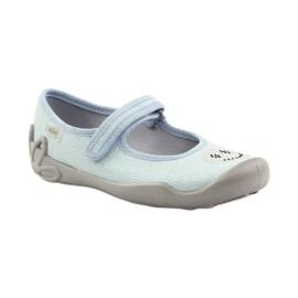 Papuče za balerinke Befado 114y289. Plavi emotikoni plava 1