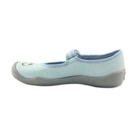 Papuče za balerinke Befado 114y289. Plavi emotikoni plava 2