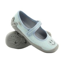 Papuče za balerinke Befado 114y289. Plavi emotikoni plava 3