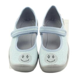 Papuče za balerinke Befado 114y289. Plavi emotikoni plava 4