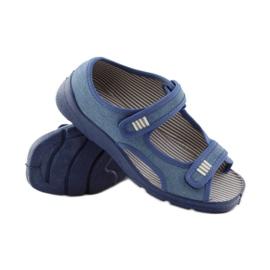 Papuče sandale Befado 113y010 plave boje plava 3