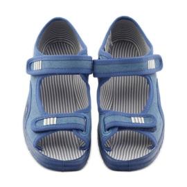 Papuče sandale Befado 113y010 plave boje plava 4