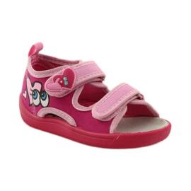 American Club Papuče američke sandale od kože ružičasta 1