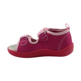 American Club Papuče američke sandale od kože ružičasta 2