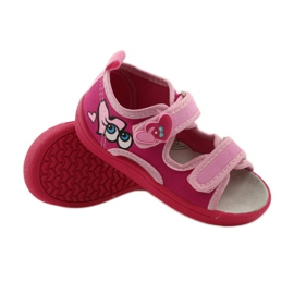 American Club Papuče američke sandale od kože ružičasta 3