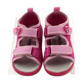 American Club Papuče američke sandale od kože ružičasta 4
