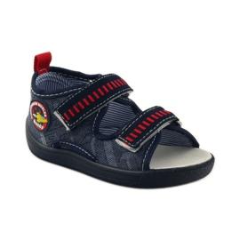 American Club Papuče američke sandale od kože mornarsko plava crvena 1