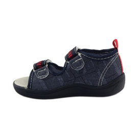 American Club Papuče američke sandale od kože mornarsko plava crvena 2