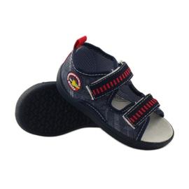 American Club Papuče američke sandale od kože mornarsko plava crvena 3