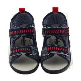 American Club Papuče američke sandale od kože mornarsko plava crvena 4