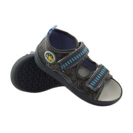 American Club Papuče američke sandale od kože siva plava 3