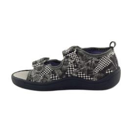 American Club Papuče američke sandale od kože siva bijela 2
